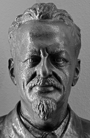 Leon Trotsky (bronze bust in the Lubitz Trotsky Collection)