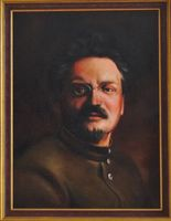 Portrait (oil on canvas) of Leon Trotsky painted in 2012 by Eduard Panosian (Leipzig)